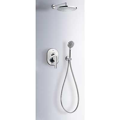 Podomítkový jednopákový sprchový set LEX s uzávěrem a regulací průtoku. · Včetně podomítko (18188005) Tres