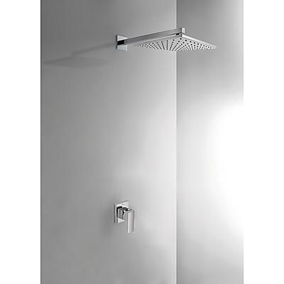 Podomítkový jednopákový sprchový set CUADRO s uzávěrem a regulací průtoku.· Včetně podomí (106377) Tres