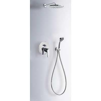 TRES ECO-TRES Sprchová sada vestavná · Pevná sprcha O 225 mm. · Ruční masážní sprcha O 80 mm. (2 funkce). · Flexi hadice SATIN. (07099002 )