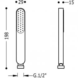 TRES - Sprcha, proti usaz. vod. kamene  (03463901), fotografie 2/2