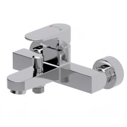 CERSANIT - Vanová baterie se sprchou VIGO jednopáková, nástěnná,  s pevným výtokovým ramínkem, s přepínačem, CHROM (S951-010)