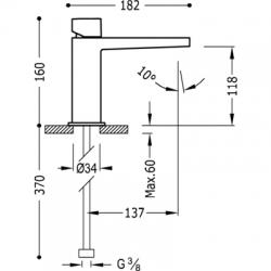 TRES - Jednopáková umyvadlová baterie (20210302), fotografie 2/5