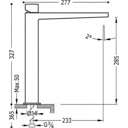 TRES - Jednopáková umyvadlová baterie (20210306), fotografie 2/5