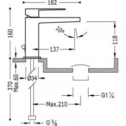 TRES - Jednopáková umyvadlová baterie (20210301D), fotografie 2/4