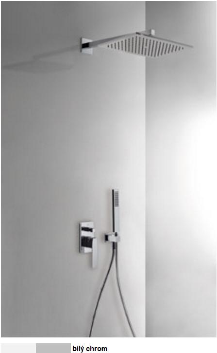 Podomítkový jednopákový sprchový set s uzávěrem a regulací průtoku.· Včetně podomítkového (20218006BL) Tres
