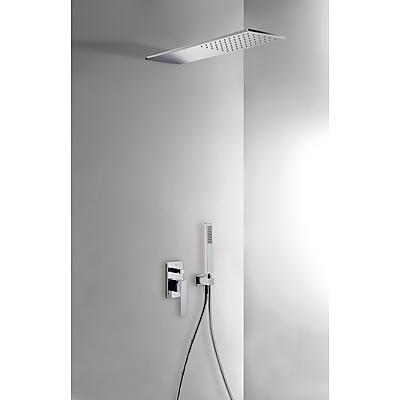 Podomítkový jednopákový sprchový set s uzávěrem a regulací průtoku.· Včetně podomítkového (20218003) Tres
