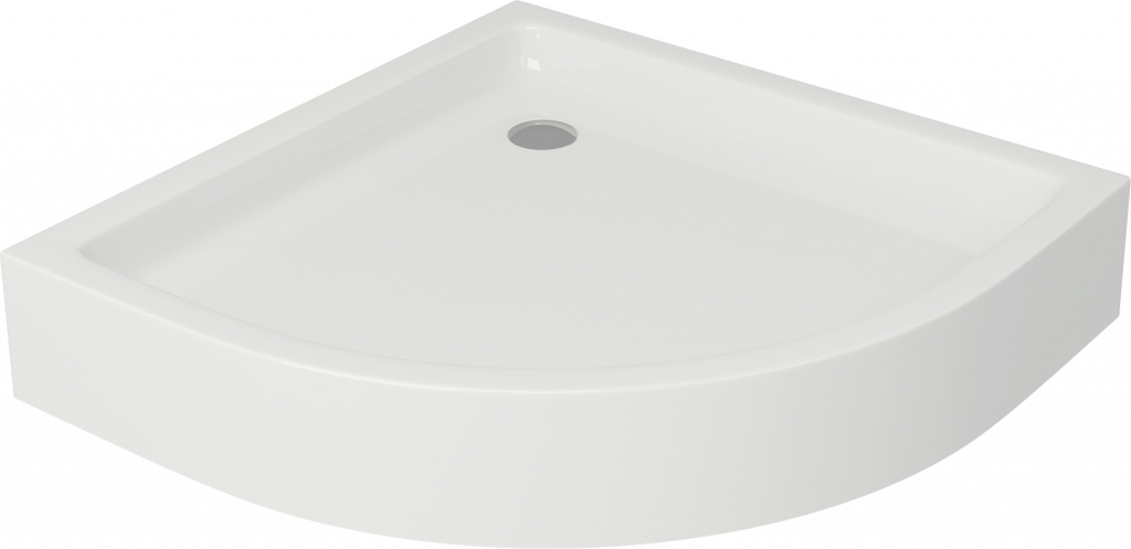 Sprchová vanička TAKO 80x16, čtvrtkruh, BUILT-IN-PANEL CW (S204-003)
