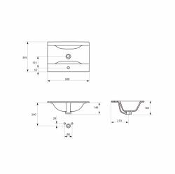 CERSANIT - Nábytkové umyvadlo ONTARIO NEW 50 s přepadem (K669-001), fotografie 4/3