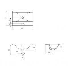 CERSANIT - Nábytkové umyvadlo ONTARIO NEW 60 (K669-002), fotografie 4/3