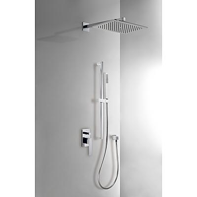 Podomítkový jednopákový sprchový set s uzávěrem a regulací průtoku.· Včetně podomítkového (20218007) Tres
