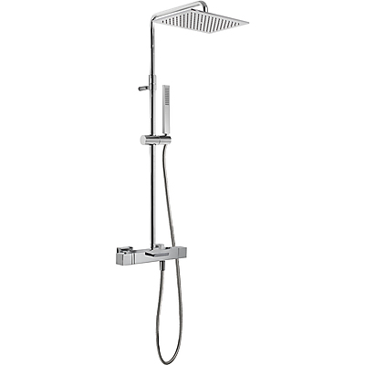 Souprava termostatické baterie pro vanu-sprchu · Pevná sprcha 320x220 mm. s kloubem. Mater (20231201)