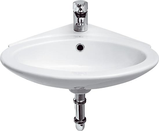 CERSANIT - Rohové umývátko TETA 32 s přepadem (K11-0016) CERSANIT