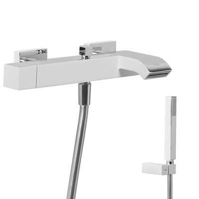 Jednopáková baterie pro vanu-sprchu s kaskádou. Ruční sprcha s nastavitelným držákem, prot (40717002)