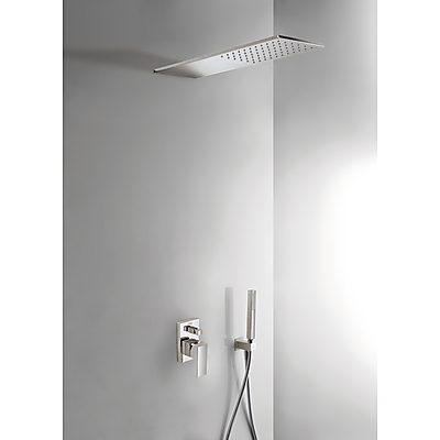 Podomítkový jednopákový sprchový set s uzávěrem a regulací průtoku. · Včetně podomítkovéh (00618003AC) Tres