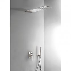 TRES - Podomítkový jednopákový sprchový set  s uzávěrem a regulací průtoku. · Včetně podomítkovéh (00618003AC)