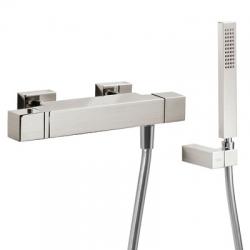 TRES - Termostatická sprchová baterieRuční sprcha snastavitelným držákem, proti usaz. vod. kamene. Flexi hadice SATIN. (507164039)