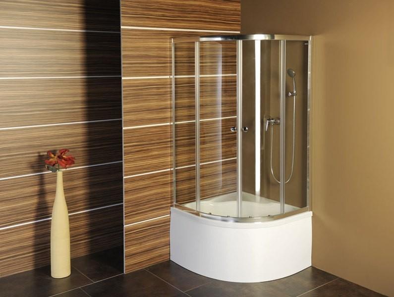 POLYSAN SELMA čtvrtkruhová sprchová zástěna 900x900x1500, čiré sklo (TM1520)