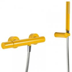 TRES - Sprchová baterieRuční sprcha snastavitelným držákem, proti usaz. vod. kamene. Flexi hadice SATIN. (26116701TAM)
