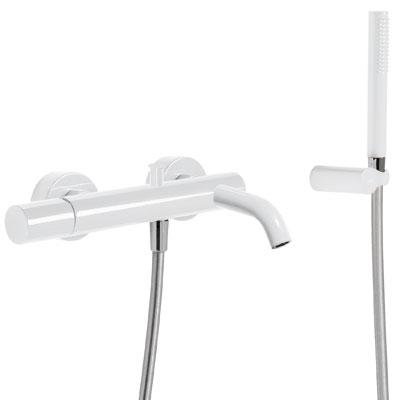 Vanová baterie Ruční sprcha s nastavitelným držákem, proti usaz. vod. kamene. Flexi hadice (26117001TBL) Tres