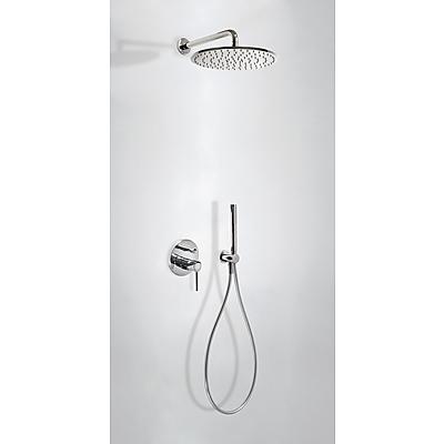 Podomítkový jednopákový sprchový set s uzávěrem a regulací průtoku.· Včetně podomítkového (26298091) Tres