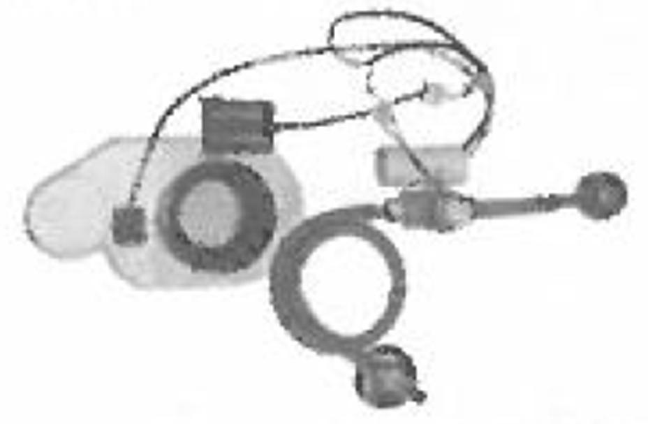 CERSANIT - Podomítkový pisoárový splachovač na baterii 6V (K97-121)