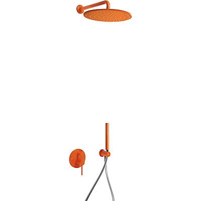 Podomítkový jednopákový sprchový set s uzávěrem a regulací průtoku, včetně tělesa (26298091TNA)
