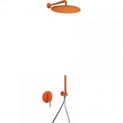 TRES - Podomítkový jednopákový sprchový set  s uzávěrem a regulací průtoku (26298091TNA)
