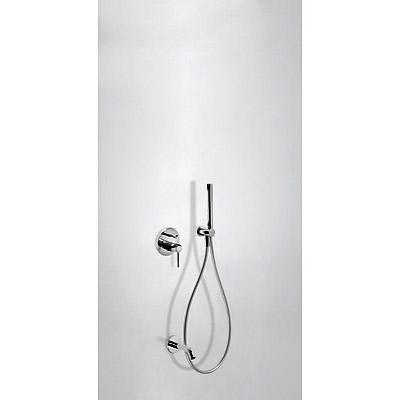 TRES - Podomítkový jednopákový sprchový set s uzávěrem a regulací průtoku. · Včetně podomítkového (26218003)
