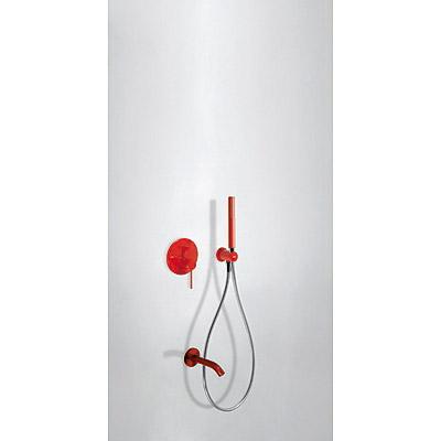 TRES - Podomítkový jednopákový sprchový set s uzávěrem a regulací průtoku. · Včetně podomítkového (26218003TRO)