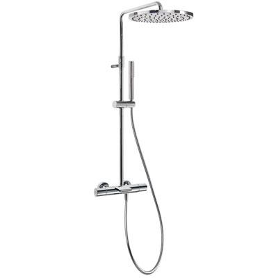 TRES - Souprava termostatické baterie pro vanu-sprchu · Pevná sprcha O300mm. s kloubem. Materiá (26231201)