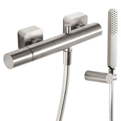 Sprchová baterie Ruční sprcha s nastavitelným držákem, proti usaz. vod. kamene. Flexi hadi (20016701AC) Tres