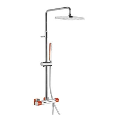 TRES - Souprava termostatické sprchové baterie Pevná sprcha 220x220mm. s kloubem. Ruční sprcha, proti usaz. vod. kamene. (20019501RO)