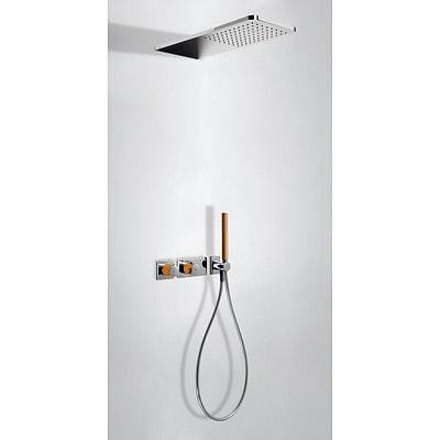 TRES Podomítkový termostatický sprchový set BLOCK SYSTEM s uzávěrem a regulací průtoku (2-cestn (20735202NA)