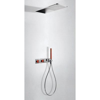 TRES Podomítkový termostatický sprchový set BLOCK SYSTEM s uzávěrem a regulací průtoku (2-cestn (20735202RO)