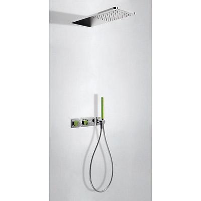 TRES Podomítkový termostatický sprchový set BLOCK SYSTEM s uzávěrem a regulací průtoku (2-cestn (20735202VE)