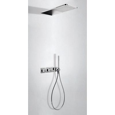 TRES Podomítkový termostatický sprchový set BLOCK SYSTEM s uzávěrem a regulací průtoku (2-cestn (20735202BL)