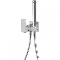 Jednopáková podomítková baterie pro bidet WCVyměnitelný držák zprava či zleva. Sprchová mosazná baterie s omezovacím hr (00612301) - TRES