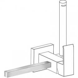 TRES - Příslušenství držák na ručníky 180mm POZNÁMKA: Pravý nebo levý podstavec, vyměnitelný. (03412402)