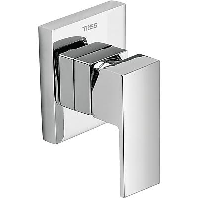Vestavěná jednopáková sprchová baterie (jednocestná) včetně podomítkového tělesa (106177) Tres