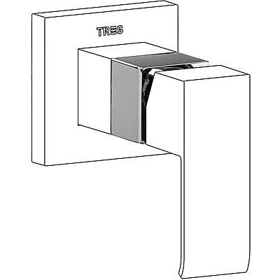 TRES - Nástavec pro vestavěnou jednopákovou sprchu  (10617710)