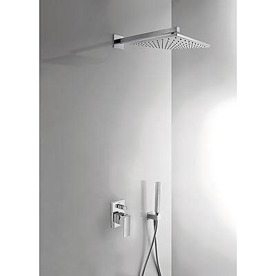 TRES - Podomítkový jednopákový sprchový set CUADRO s uzávěrem a regulací průtoku. · Včetně podomí (106980)