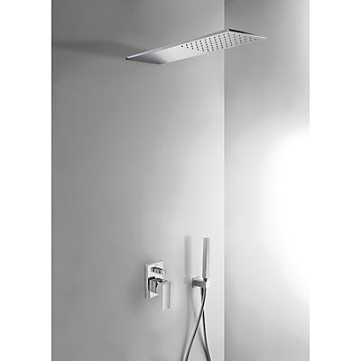 Podomítkový jednopákový sprchový set CUADRO s uzávěrem a regulací průtoku. · Včetně podomí (00618003) Tres