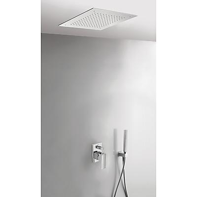 Podomítkový jednopákový sprchový set CUADRO s uzávěrem a regulací průtoku. · Včetně podomí (00698001) Tres