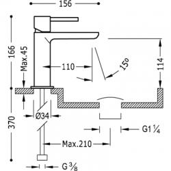 TRES - Jednopáková umyvadlová baterie (06210302D), fotografie 2/3