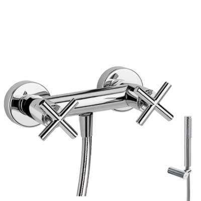 Sprchový set Ruční sprcha s nastavitelným držákem (034.116.01), proti usaz. vod. kamene a (163868) Tres