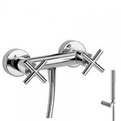 TRES - Sprchový set Ruční sprcha snastavitelným držákem (034.116.01), proti usaz. vod. kamene a  (163868)