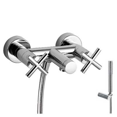 TRES - Vanový set Ruční sprcha snastavitelným držákem (034.116.01), proti usaz. vod. kamene a fl (163874)