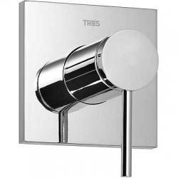 TRES - Baterie MONO-TERM® (jednocestný)s uzávěrem a regulací průtoku.  Včetně podomítkového tělesa (20117701)