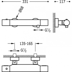 TRES - Termostatická sprchová baterie MAX/CLASS (06116201), fotografie 2/5