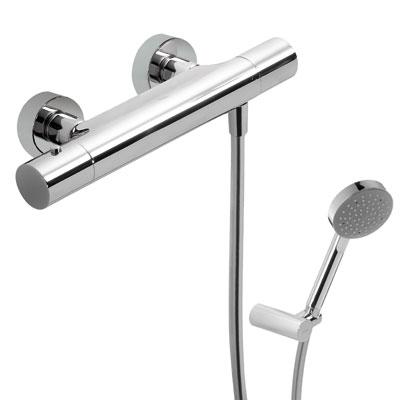 TRES Termostatická sprchová baterie (Ruční sprcha (299.748.02) s nastavitelným držákem, proti u (06116209)